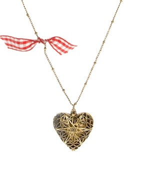 Image 1 ofJohnny Loves Rosie Gingham Heart Necklace