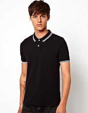 ASOS - Polo con colletto con righe a contrasto