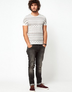 Image 4 ofASOS Stripe T-Shirt With Aztec Pattern