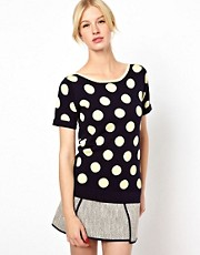 Boutique by Jaeger Polka Dot Knit