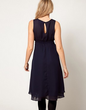 Image 2 ofASOS Maternity Midi Dress With Double Layer