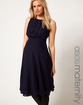 Image 1 ofASOS Maternity Midi Dress With Double Layer