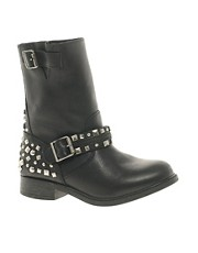 River Island Sketch Studded Biker Boots
