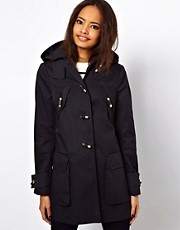 ASOS Hooded Duffle With Metal Toggles
