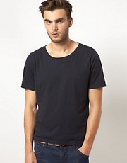 Nudie Wide Neck NJ T-Shirt
