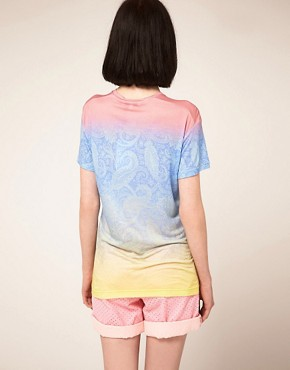 Image 2 ofJonathan Saunders Boyfriend T Shirt In Pastel Paisley