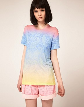 Image 1 ofJonathan Saunders Boyfriend T Shirt In Pastel Paisley