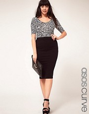 ASOS CURVE Midi Skirt In Jersey