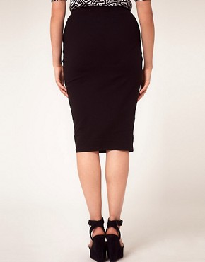 Image 2 of ASOS CURVE Midi Skirt In Jersey