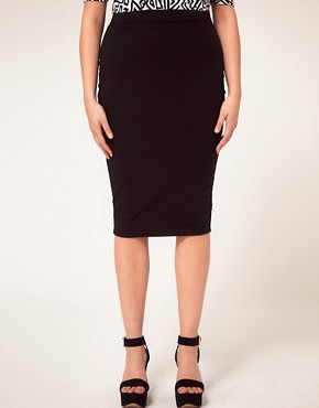 Image 4 ofASOS CURVE Midi Skirt In Jersey