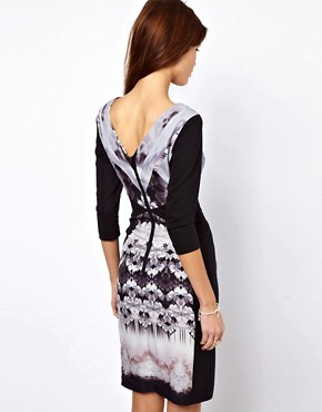 Image 2 ofWarehouse Butterfly Tribal Bodycon Dress