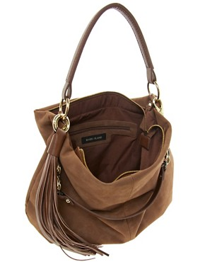Image 2 ofRiver Island Chain Tassel Slouch Bag