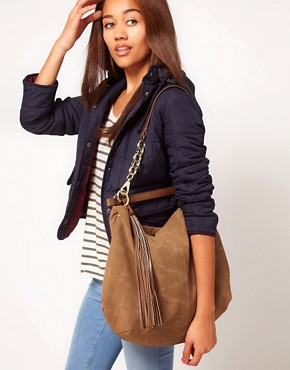 Image 3 ofRiver Island Chain Tassel Slouch Bag