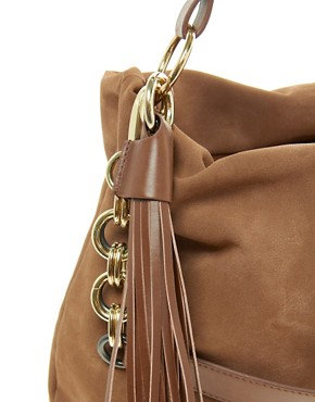 Image 4 ofRiver Island Chain Tassel Slouch Bag