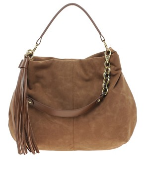 Image 1 ofRiver Island Chain Tassel Slouch Bag