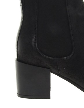 Image 3 ofWhistles Carlotta Block Heel Chelsea Boots
