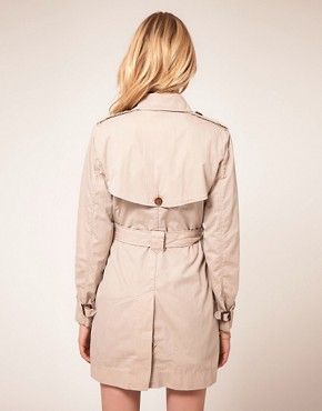 Image 2 ofFrench Connection Twill Trench Coat