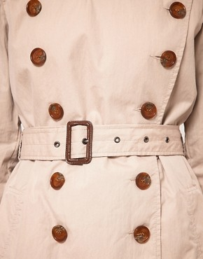 Image 3 ofFrench Connection Twill Trench Coat