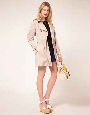 Image 4 ofFrench Connection Twill Trench Coat