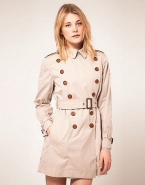 Image 1 ofFrench Connection Twill Trench Coat