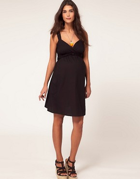 Image 4 ofASOS Maternity Cotton Dress with Sweetheart Neckline