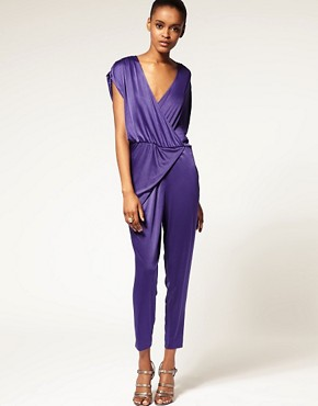 Image 1 ofHalston Heritage Shirred Jumpsuit
