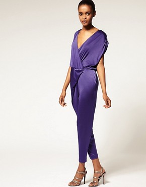 Image 4 ofHalston Heritage Shirred Jumpsuit