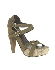 Elizabeth &amp; James Tari Sandal With Snakeskin Platform