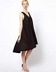 See by Chloe High Low Dress with Thread through Belt in Cotton Voile