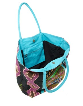 Image 4 ofLiquorish Multi Print Beach Bag