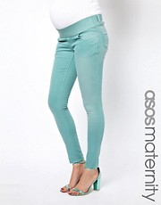 ASOS Maternity Elgin Skinny Jeans In Green