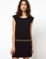 BA&amp;SH Mini Dress with Military Band at Waist