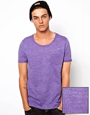 ASOS - T-shirt con stampa reverse e tasca