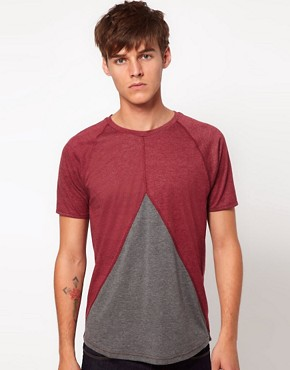 Image 1 ofASOS T-Shirt With Insert Triangle