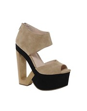 DV8 Phantom Cut Out Suede Wedges