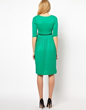 Image 2 ofASOS Maternity Midi Dress With Pleated Skirt