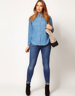 Image 4 ofASOS CURVE Denim Shirt