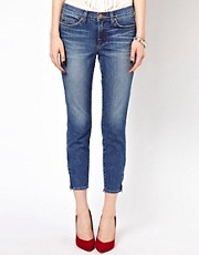 J Brand Bliss Mid Rise Capri With Ankle Zips