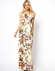 Ted Baker Cristen Maxi Dress in Mid Summer Floral Print with Belt