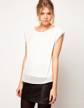 Image 1 ofLove Top with Pearl Embellished Sleeves