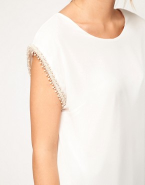 Image 3 ofLove Top with Pearl Embellished Sleeves