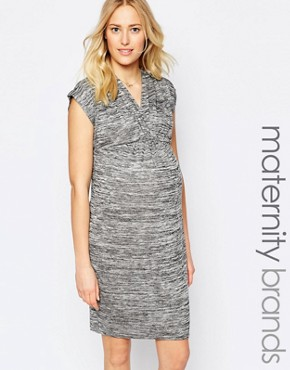 New Look Maternity V Neck Wrap Front Dress