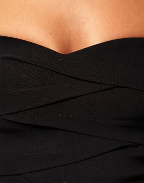 Image 3 ofASOS Pleated Strapless Dress with Curved Neckline