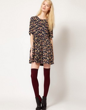 Image 4 of Paul and Joe Sister Day Dress in Winter Floral