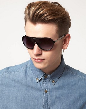 Image 3 ofJack &amp; Jones Moulded Aviator Sunglasses
