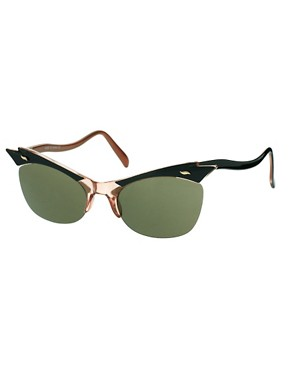 Image 1 ofASOS Cat Eye Sunglasses With Cut Away Detail
