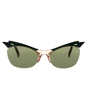Image 2 ofASOS Cat Eye Sunglasses With Cut Away Detail