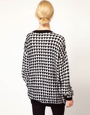 Image 2 ofASOS Textured Pattern Boyfriend Cardigan