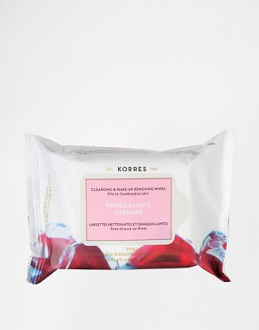 Image 1 ofKorres Pomegranate Cleansing &amp; Make-Up Remover Wipes For Oily &amp; Combination Skin