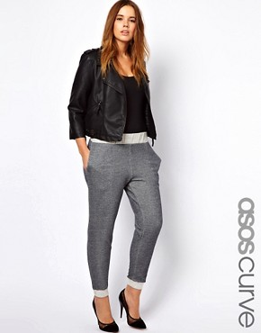 Image 1 ofASOS CURVE Basic Fleck Jogger